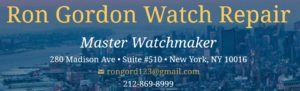 Ron Gordon Watch Repair of New York City / NYC